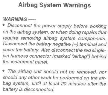 Air Bag Info